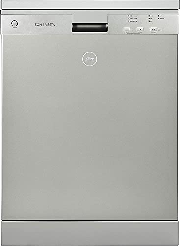 Godrej Eon Dishwasher   12 place setting   Perfect for Indian Kitchen  Turbo Drying Technology   Intensive 65°C Wash programme A++ Energy rating DWF EON VES 12U NF STSL- Satin Silver