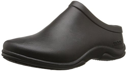 Bogs Women's Stewart Slip Resistant Work Shoe, Black, 8 M US