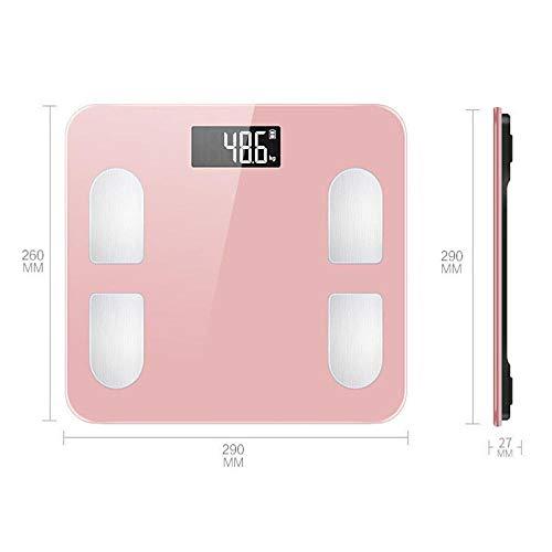 Nieuwe digitale weegschaal Smart Balance Connect Body Weegschaal Mi Lichaamssamenstelling Weegschaal Vetpercentage Bluetooth APP roze