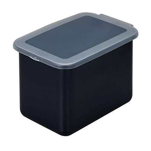 Belca 米びつ システムキッチン用 ライスボックス6 容量6kg 幅20×奥行30.3×高さ19.3cm ブラック/ブラック 計量カップ付き 密閉 日本製 BRB-6BKN
