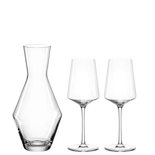 Leonardo Puccini Weißwein-Set, 3er Set, Wein-Gläser mit Glas-Karaffe, spülmaschinengeeignetes Wein-Set, Kelchglas-Set, 560 ml und 1400 ml, 069528