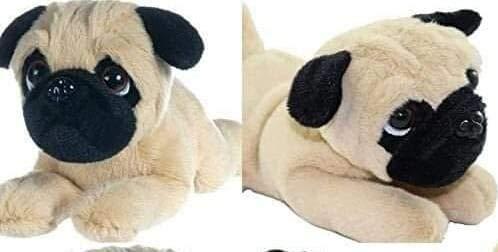 Stofftier Hund Mops Welpe ca 22 cm, klassisch weichen Plüsch, Kuscheltier