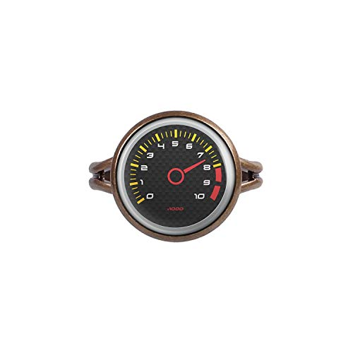 Mylery Ring mit Motiv Drehzahl-Messer DZM RPM Umdrehungen Instrument Anzeige Carbon Bronze 14mm