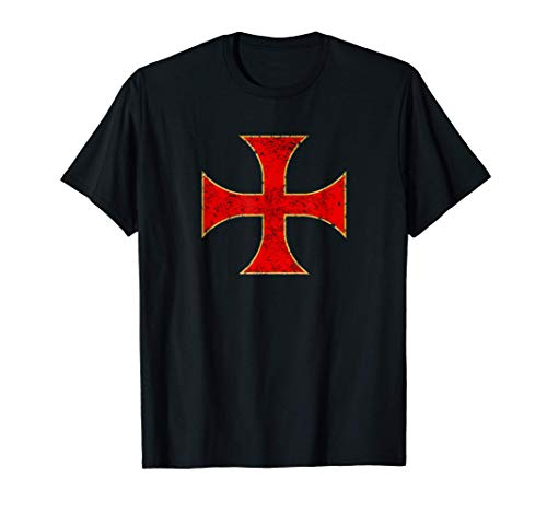 Cruz Caballeros Templarios Regalo Cristiano Hombre Mujer Camiseta
