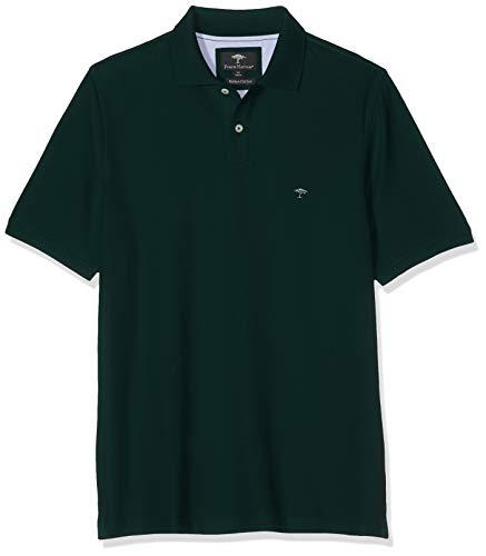 FYNCH-HATTON Herren Basic Supima Cotton Poloshirt, Grün (Diesel 777), Small