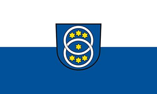 Unbekannt magFlags Tisch-Fahne/Tisch-Flagge: Zwiefalten 15x25cm inkl. Tisch-Ständer