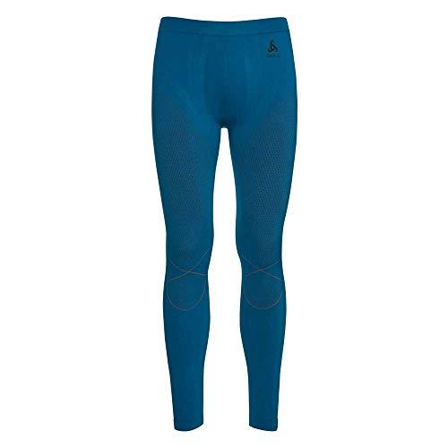 Odlo Evolution Warm Pantalon Homme, Mykonos Blue/Orangeade, XXL