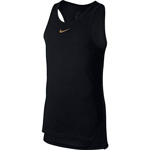 NIKE Breathe Elite Top Sleeveless Camiseta, Hombre, Negro (Black/Elemental Gold), L