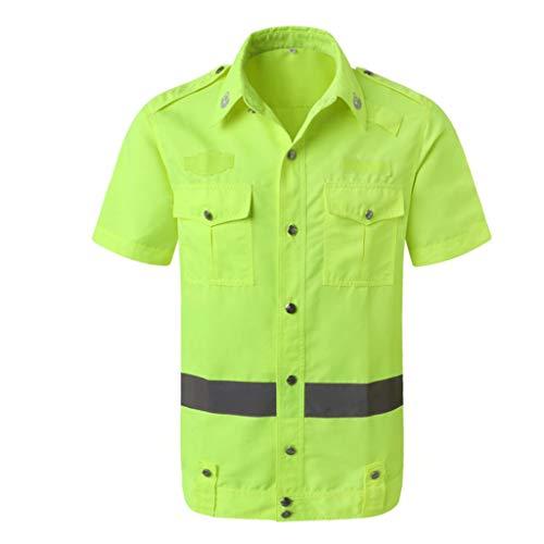 Yaya reflecterende kleding fluorescerend buiten ademend zomerhemd korte mouwen top eenvoudige doorbloeding veiligheidsvest reflecterend vest