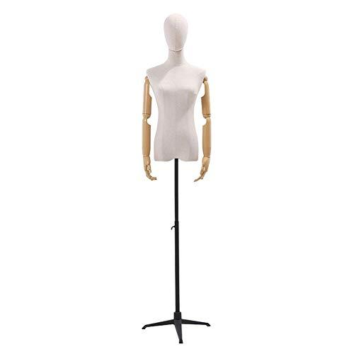 CNNSport Naaien mannequin Torso Vrouwelijke Body Bust Jurk met Verstelbare Statief voor Kleding Sieraden Showcase Monitor Model