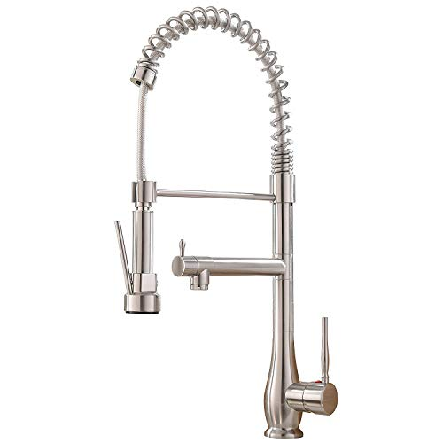 VAPSINT Modern Best High Arc Single Handle Brushed Nickel Kitchen Faucet, Kitchen Sink Faucets