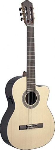 Ángel López SAU-CFI S Electro-Acústica Guitarra Clásica mit Cutaway Solid Spruce Rosewood (650 mm) natur