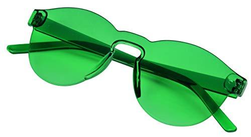 TOPICO Gafas de Sol Unisex Juvenil Fancy Style, Color Verde, 32 x 15 x 7 cm