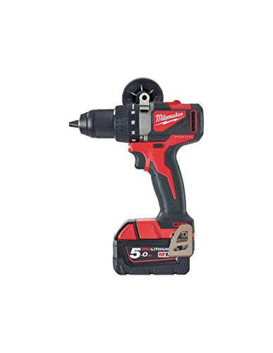 Drill Screw Drill MILWAUKEE Brushless M18 BLDD2-502X - 2 Batteries 18V 5.0Ah - 1 Charger 4933464515