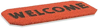 Galileo Casa Tapis Coco et PVC Welcome Rouge 33 x 68 cm NO Rouge
