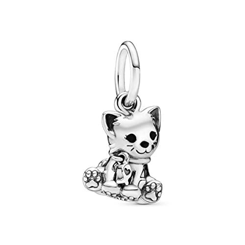 Pandora Jewelry Kitty-Cat Dangle Sterling Silver Charm
