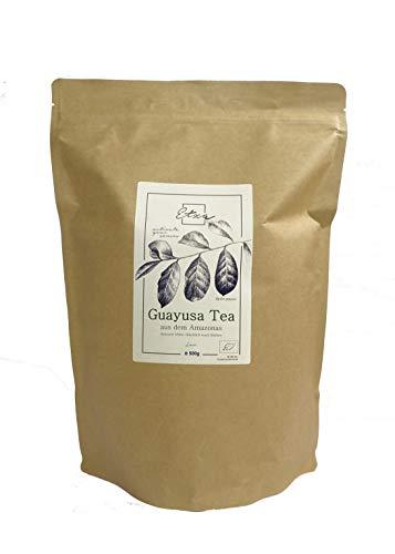 ETZA Bio Guayusa Tee aus dem Amazonas, lose 500g -für 200 Tassen- Langanhaltende Energie - Vollgepackt mit Koffein und Antioxidantien - Perfekte Kaffeealternative (500g)