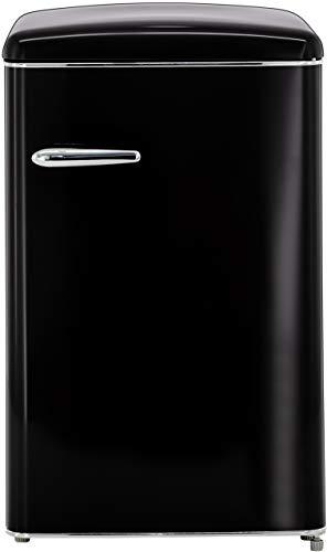 Exquisit RKS 120-16 RVA++MS Retro-Kühlschrank/EEK: A++/121 Liter/Retro-Handgriff/LED-Innenbeleuchtung