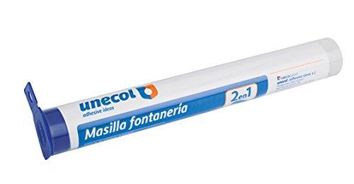 Unecol 8121 Masilla epoxi rápida (tubo con colgador), Gris, 125 g