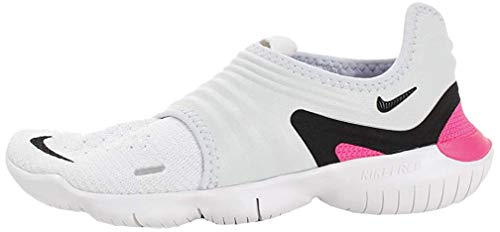 Nike Womens Free RN Flyknit 3.0 Running Trainers AQ5708 Sneakers Shoes (UK 6 US 8.5 EU 40, Half Blue Black White 401)