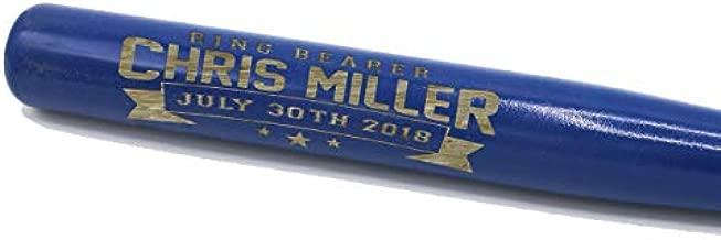 The Wedding Party Store Personalized Mini 18'' Wood Baseball Bat - Custom Groomsmen, Birthday, Team- Engraved (Royal Blue)