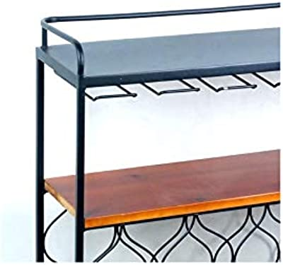 Art Deco Home - Mesa botellero Metalico 65 cm - 16225SG: Amazon.es ...