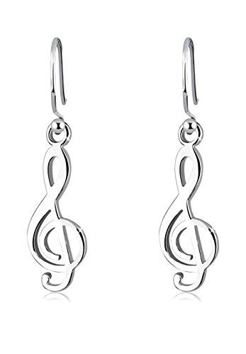 Elli Damsmycke örhängen örhängen notnyckel musik melodi anteckning musiker silver 925