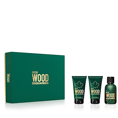 DSQUARED Green Wood Edt 50 Ml + Sg 50 Ml + Bl 50 Ml (man), One size