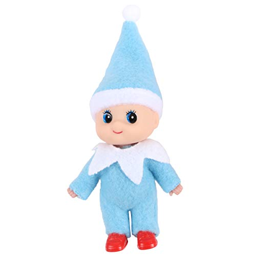 Yoodelife Soft Plush Dolls Little Elf Ornaments for Christmas Holiday New Year Decoration Gift (Blue)
