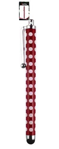 Emartbuy® Illumite 7 Zoll/Illumite Note 10 2 in 1 10.1 Zoll Tablet PC Rot Polka Dots TouchscreenhoherQualitätGummiTip-Stifts