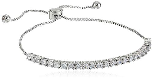landau Jewelry Deluxe Women's Tennis Bracelet- Elegant Design Metallic Finish and Stones - Ideal Birthday, Christmas