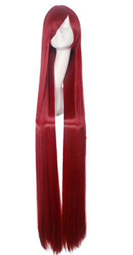 Generic Anime Longue Ligne Droite Parti femmes Costume Halloween Cosplay Perruques 150 cm
