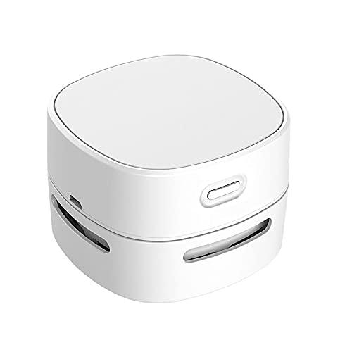 IWILCS Aspiradora de Mesa, Mini Limpiador de Polvo, Inalámbrico barredora de Polvo Desktop Cleaner, USB Recargable, para el Hogar, la Escuela, la Oficina, el Teclado y Coche