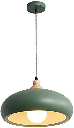 Lustre à Une tête Lustre en Fer Peut être thème de Couleur Plafond Moderne Minimaliste personnalité créative café Bar comptoir Lustre en Bois,Rose