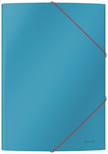 Leitz A4 Eckspannermappe, Für 150 Blatt, Sanftes Blau, Cosy-Serie, 30020061