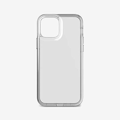 tech21 EVO Clear T21-8379 - Funda antimicrobiana para Apple iPhone 12 y 12 Pro 5G con protección contra gérmenes contra caídas de 12 pies