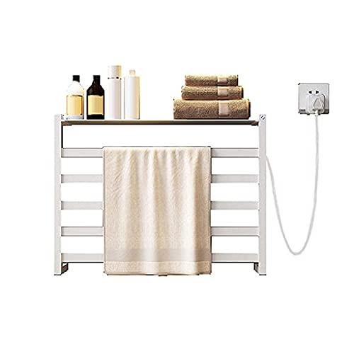 WGFGXQ Riel de Toalla con calefacción eléctrica, radiador, termostático, baño, Ropa, tendederos...