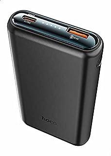 Hoco Q1 Kraft Fully Compatible Power Bank, 10000 mAh, 38.5 W - Black