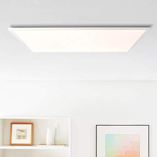 LED Panel Deckenleuchte, 75x75cm, 45 Watt, 5850 Lumen, 4000 Kelvin aus Metall/Kunststoff in weiß