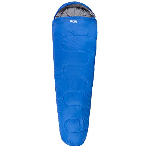 Highlander 2-3 Jahreszeiten-Schlafsack Sleepline 300 Mummy Schlafsack - Ideal für Camping, Wohnmobilausflüge, Festivals oder Übernachtungen - In vielen tollen Farben erhältlich (Royalblau, 300)