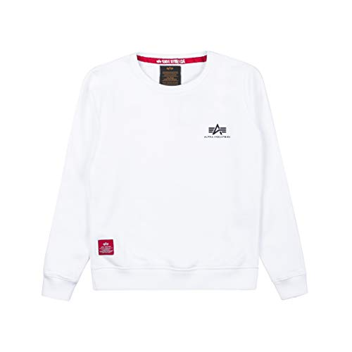 ALPHA INDUSTRIES Kids Sweatshirt Basic Small Logo, Color:White, Talla:128