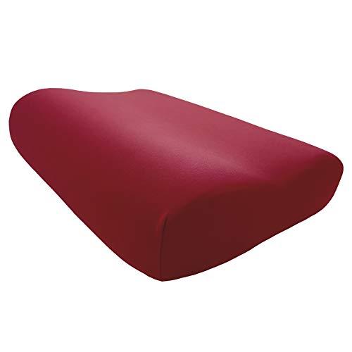 Edda Lux - Funda para almohada Tempur Original S/M/L/XL | 50 x 31 cm | en 20 colores | funda de almohada para almohada cervical | algodón | Color: Karmin