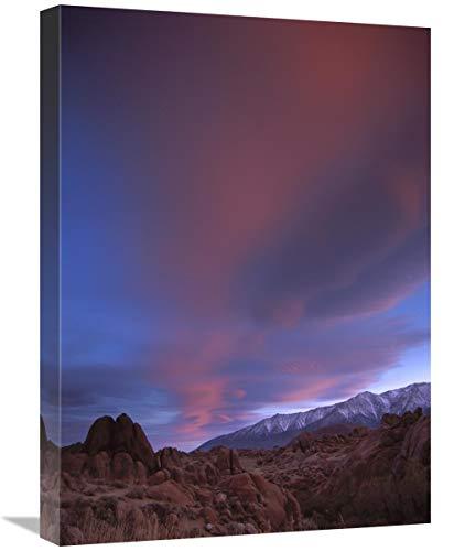 Sunrise Over The Sierra Nevada Range Visto Desde Alabama Hills, California-Lienzo, Arte 18'x24'