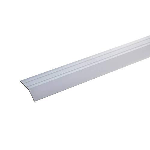 acerto 36817 Aluminium Abschlussprofil 100cm – silber,34 x 8mm, selbstklebend * Robust * Leichte Montage | Aluprofil als professionelles Wandanschlussprofil | Wand-Abschlussleiste