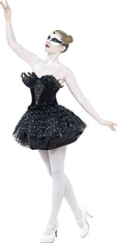 Smiffys-27313L Black Swan Disfraz de Cisne Negro gótico, con Vestido, Color, L-EU Tamaño 44-46 (Smiffy