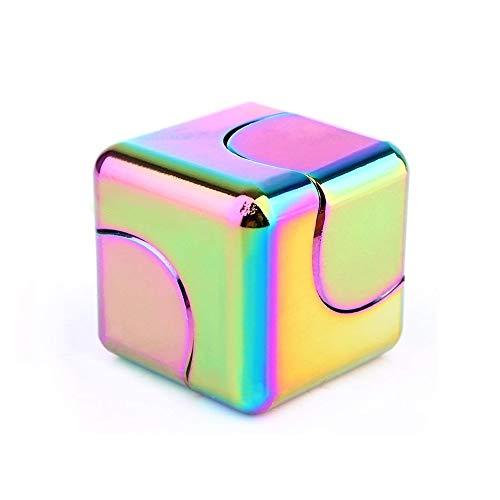 XUE Fidget Spinner Hilft Beim Fokussieren Fidget Toys Hochwertiges Metallic-Fokus-Spielzeug for Kinder Erwachsene - 4-in-1-Kreisel, Z-Spinner, Würfel-Spin