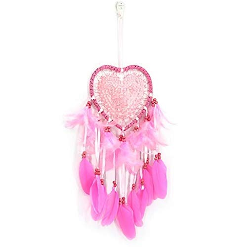 Handmade Dream Catchers Hanging White Lace Flower Dream Catcher Wind Indiana Feather Pendant Creative Car Decoration (Color : 03)