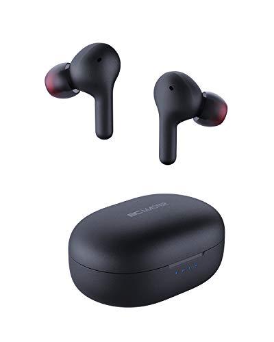 Cuffie Bluetooth 5 Bassi Potenziati, BCMASTER Auricolari Senza Fili con Ricarica Rapida USB-C e 25 ore di riproduzione per lo sport, controllo touch e microfono integrato per iPhone e Android