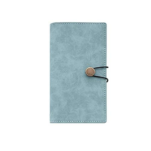 Guomipai Cuaderno Creativo Diario Simple Moda Personalizada Multifuncional Portátil Portátil Portátil Portátil Aprendiendo Regalo (32 Hojas x3) (Color : Gray Green)