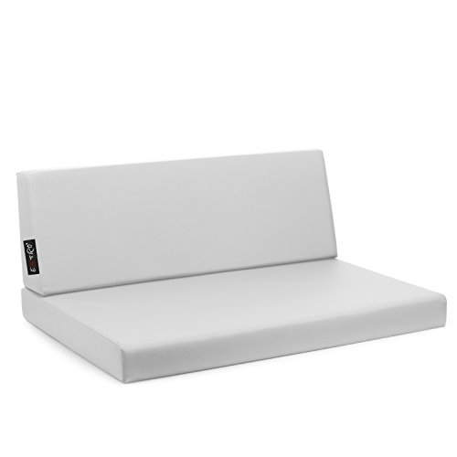 Reforma - Coussins pour canapé en palettes de bois, 82 x 122 cm (assise), 42 x 122 (dossier) - Blanc